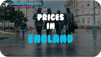 cost of living England